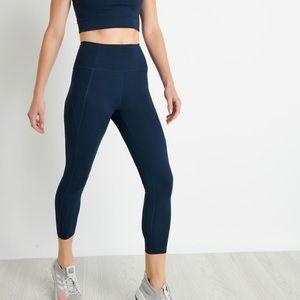 Girlfriend Collective Navy Blue leggings